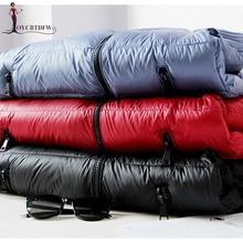 Зимние женские пуховая куртка 2017 новые модные однотонные большого размера с длинными рукавами роскошный Свободные стенд воротник женский пуховая куртка ll773
