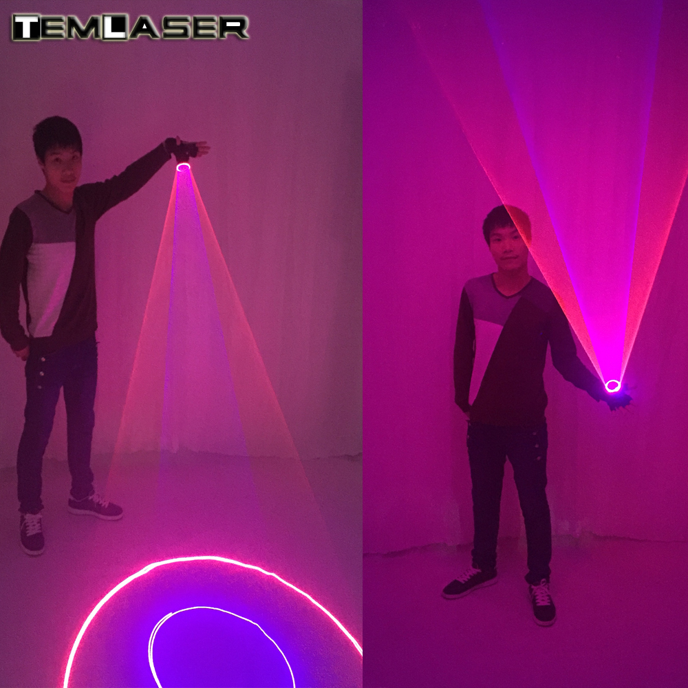 Blue Green Red Laser Gloves For DJ Dancing Club True Blue Rotating LED Gloves Light Pub Party Laser Show