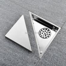 مثلث غير مرئي لتصريف أرضية الحمام وركن الحمام ومزيل العرق من النوع الخفي لإدراج البلاط وصرف سريع للاستحمام