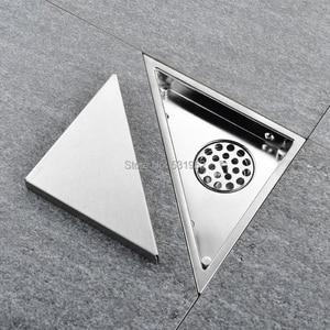 Image 1 - 三角形に見えない床ドレンバルコニー浴室コーナー床ドレン消臭非表示の型タイル挿入シャワー排水高速排水