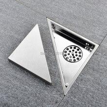 משולש Invisible ניקוז רצפת מרפסת חדר אמבטיה ניקוז רצפת דאודורנט נסתרת סוג להכניס אריח מקלחת ניקוז ניקוז מהיר