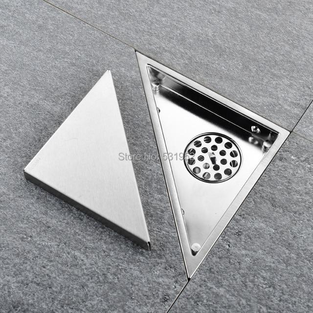 Triangle Invisible Floor Drain Balcony Bathroom Corner Floor Drain Deodorant Hidden Type Tile Insert Shower Drain Fast Drainage