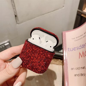 Image 2 - Glitter Sequins Bag Case For Apple Airpods Bluetooth Wireless Earphone Bling Rhinestone Case For AirPods Cover Charging Box Case