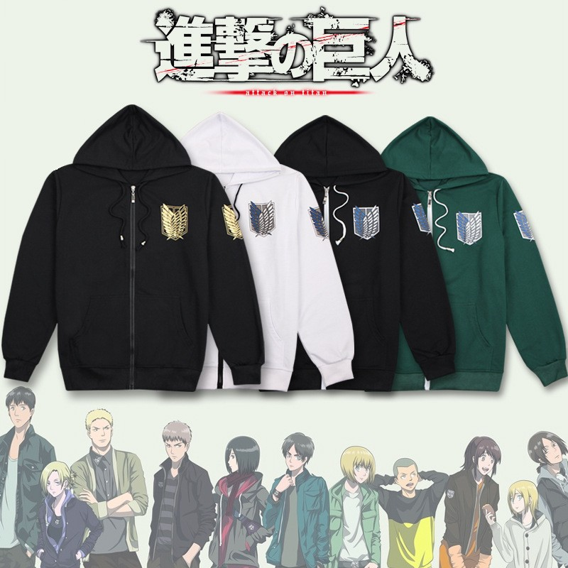 Anime Attack on Titan Cosplay Costumes MEN WOMEN Hoodie Scouting Legion Hooded Sweater CLOTHES clothes