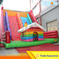 Inflatable Biggors Colorful Rainbow Inflatable Giant Slide With House Decoration For Sale