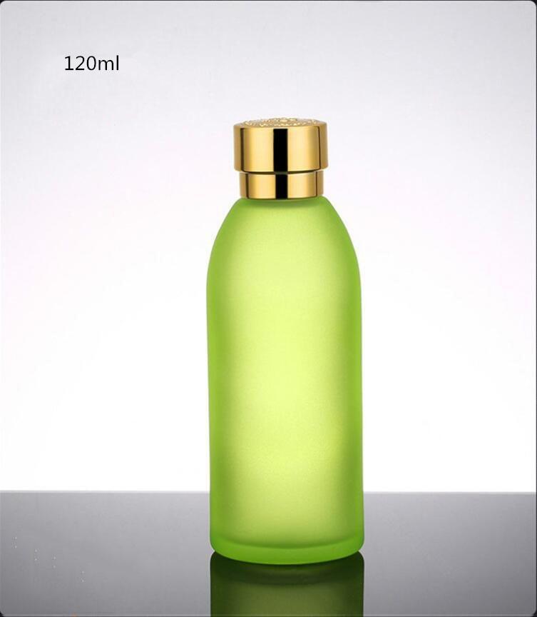 Skin Toner Suit Empty Bottle Silver Gold Carved lid Green Emulsion Bottle Glass Cream Lotion Pump 30ml 50ml 120ml 30g 50g (17)