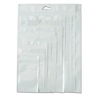 DHL Weiß/Klar Wiederverwendbare Zip-Lock Verpackungen Aus Kunststoff Säcke Ziplock Lagerung Poly Tasche Lebensmittelgeschäft Paket Tasche Mit Hängen loch