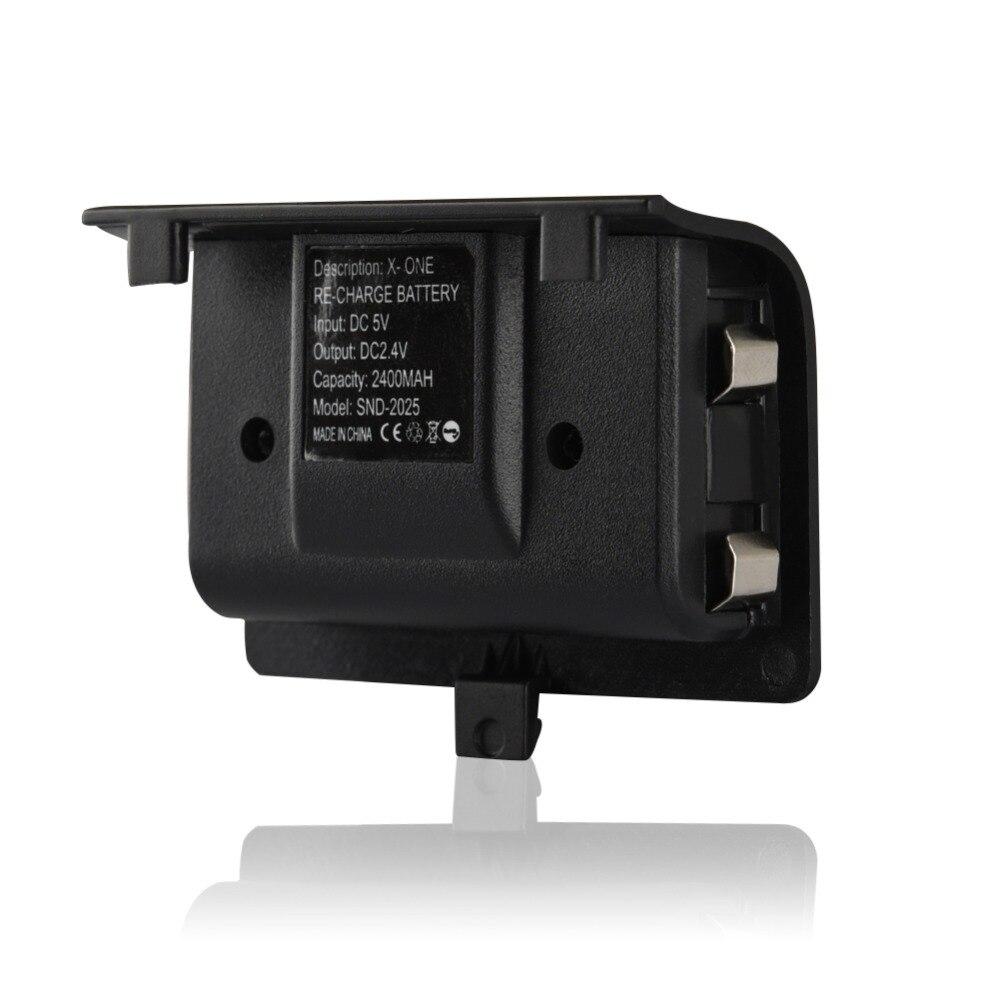 2 x батареи 2400mAh + USB кабель для XBOX ONE контроллер зарядки комплект беспроводной геймпад Joypad аккумуляторная запасная батарея