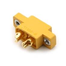 Diyスペアパーツmulticopter固定ボード黄色XT60E MマウントXT60雄プラグコネクタrcモデル