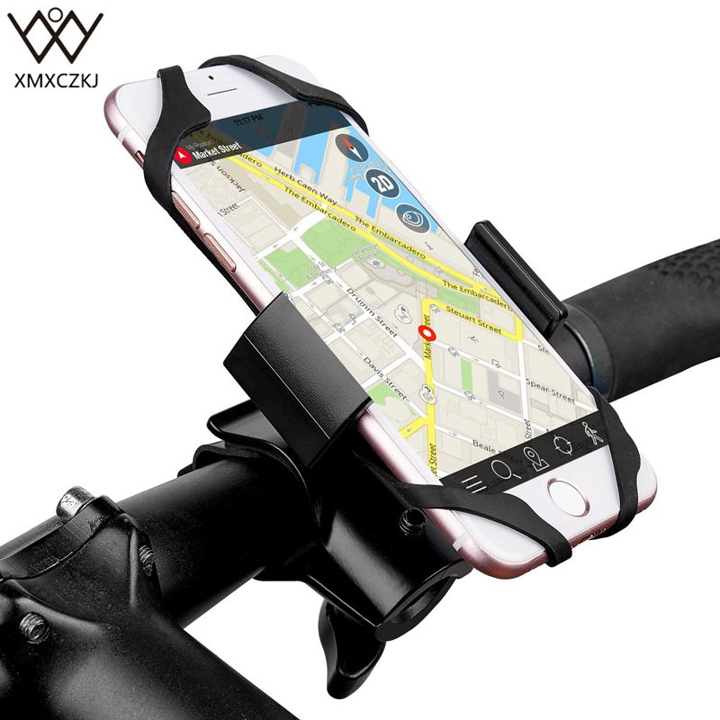 Universal Bicycle Motorcycle Phone Holder Bike Mount Metal Stand Handlebar Clip Bracket For Mobile phone Cycling <font><b>Accessories</b></font>