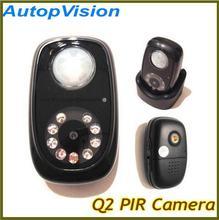 Q2 Detector PIR cámara Mini DVR con la visión nocturna y de infrarrojos de inducción
