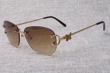 Sizzling wholesale 4193828 sun shades glasses women and men secure metallic sun shades free transport Measurement: 56-18-135mm