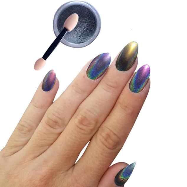 Nail Tools Nail Stickers Powder 1g/ Box Laser Sliver Nail Glitter Shinning Mirror Powder Nail Art Decoration 2018 Hot Nov26