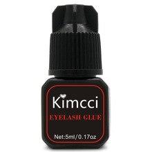 Kimcci 5ml 속눈썹 연장 접착제 1 3 초 빠른 건조 속눈썹 접착제 프로 래쉬 접착제 블랙 접착제 유지 오래 마지막