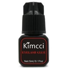 Kimcci 5ml Wimpern Verlängerung Kleber 1 3 Sekunden Schnelle Trocknen Wimpern Kleber Pro Lash Kleber Schwarz Klebstoff Retention lange Dauern