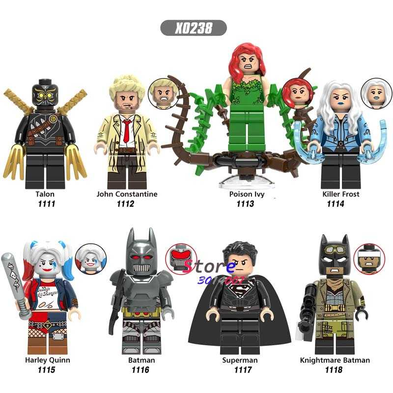 เดี่ยว DC Batman Superman Talon John Constantine Poison Ivy Killer Frost Harley Quinn building blocks อิฐของเล่นเด็ก