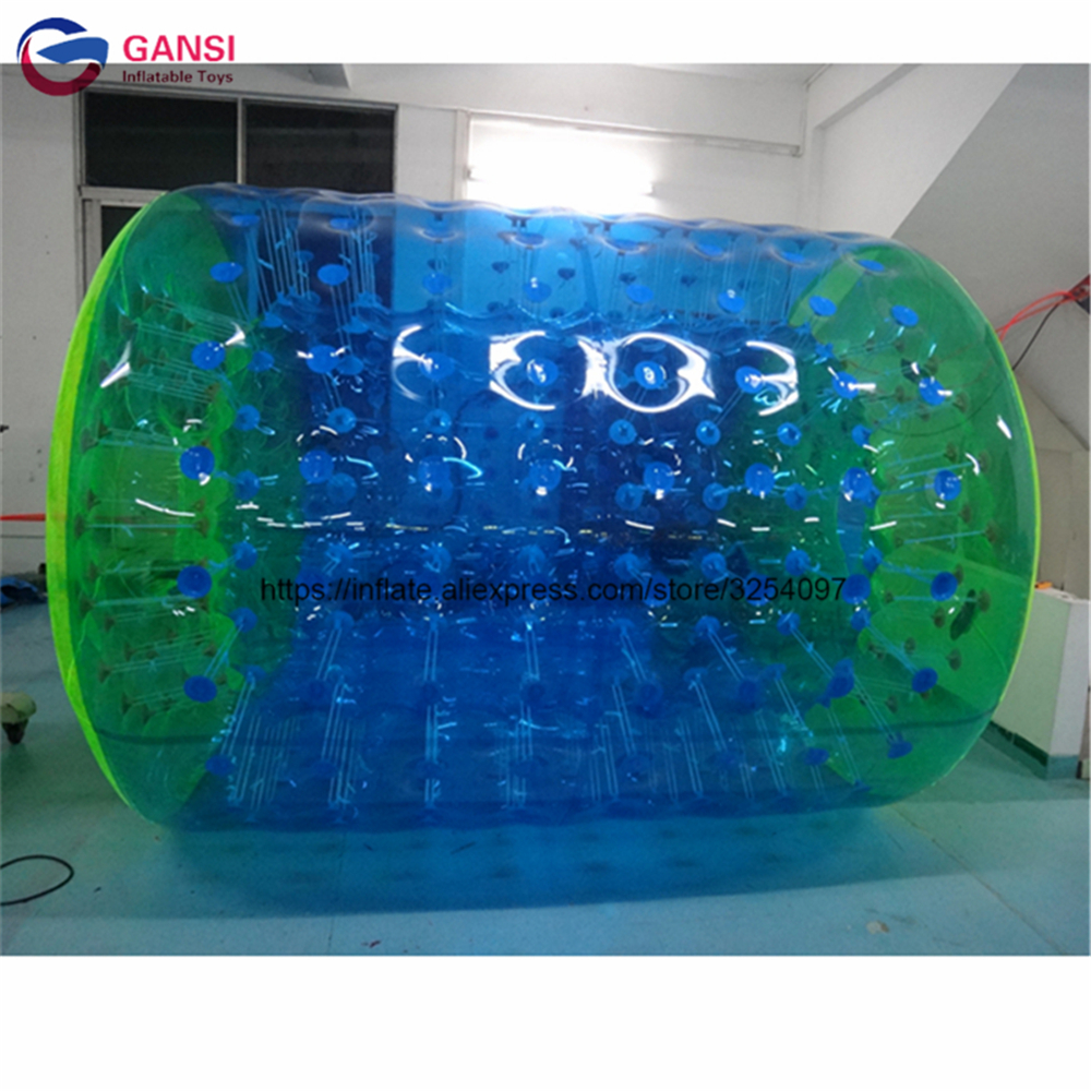 цена на 1.0mm PVC inflatable roller ball for playground sport game 2.4mL 2.2m diameter inflatable water roller ball with factory price
