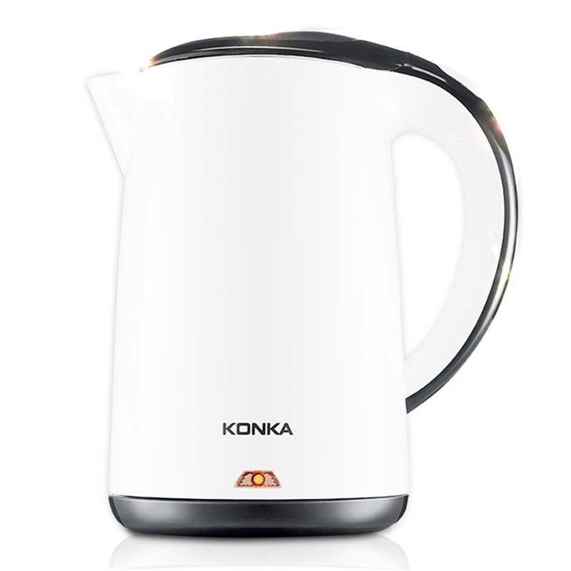 все цены на KONKA Stainless Steel Electric Water Kettle High Power Double Layers Scald Proof Kettle Auto-off Quick Electric Boiling Pot онлайн