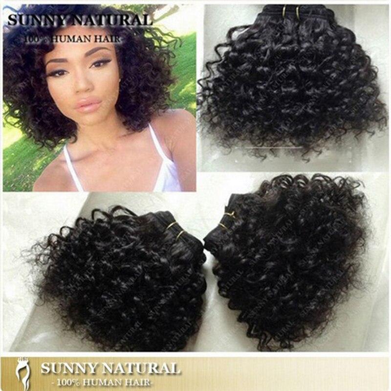 12 Colors Cheap Short 8 Kinky Curly Brazilian Hair Weave