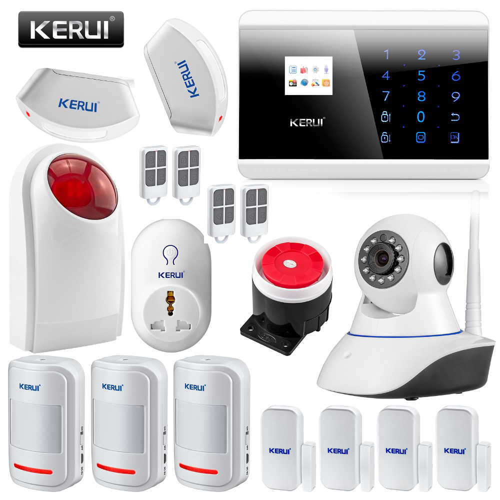 GSM PSTN Wireless Home Auto Alarm Security System Touch Panel English Russian Spanish French Voice APP IOS Smart Android wireless door magnetic sensor detector for touch keypad panel gsm pstn home security burglar voice alarm system