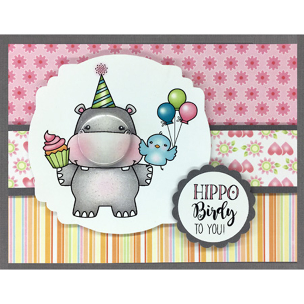Handmade Birthday Greeting Card Transparent Clear Silicone Painting