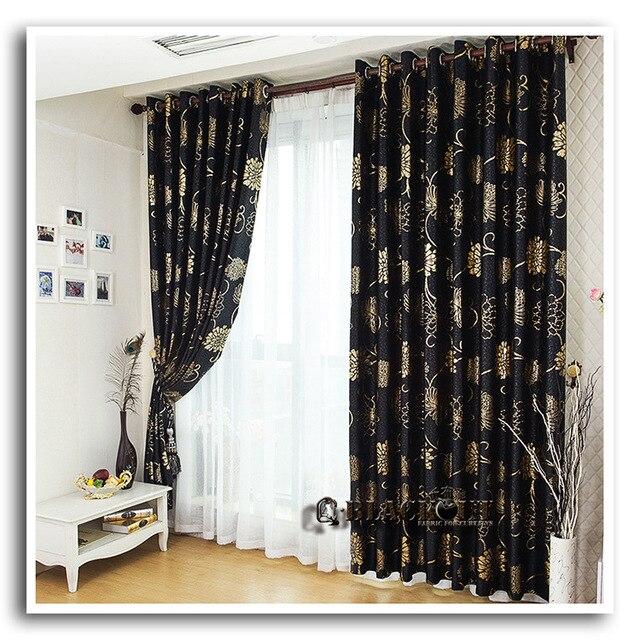 corrosiewerende metalen tule mooie zwarte en gouden gordijnen zwart en zilver gordijnen voor woonkamer