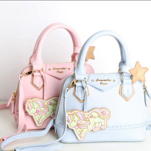 2018 New Sanrio An Gemini Unicorn Handbag Women Shoulder Bag Cute Cartoon Samantha Vega Messenger