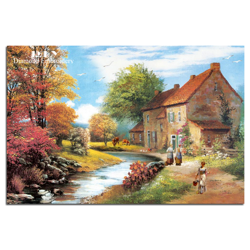 Buy diamond embroidery craft scenery for Buy mural paintings online