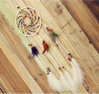 Gorąca sprzedaż Japoński wersja kolorowe drewniane koraliki Handmade kryty ozdoby rzemiosło Dreamcatcher ścianie wisi Piękny prezent