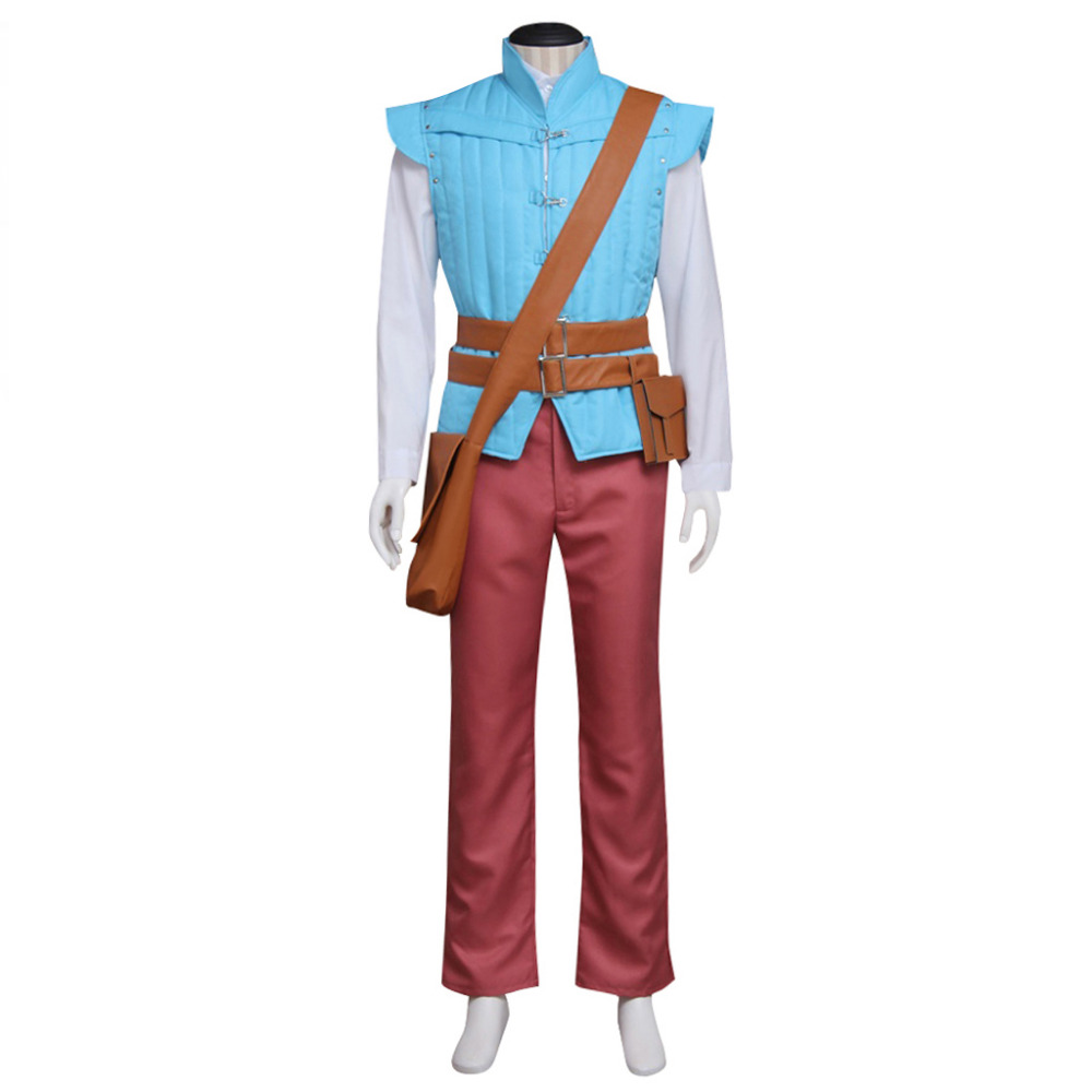 Tangled Rapunzel Prince Flynn Rider Cosplay Costume Suit Adult Men Halloween Party Outfit Cosplay Costume Custom Made