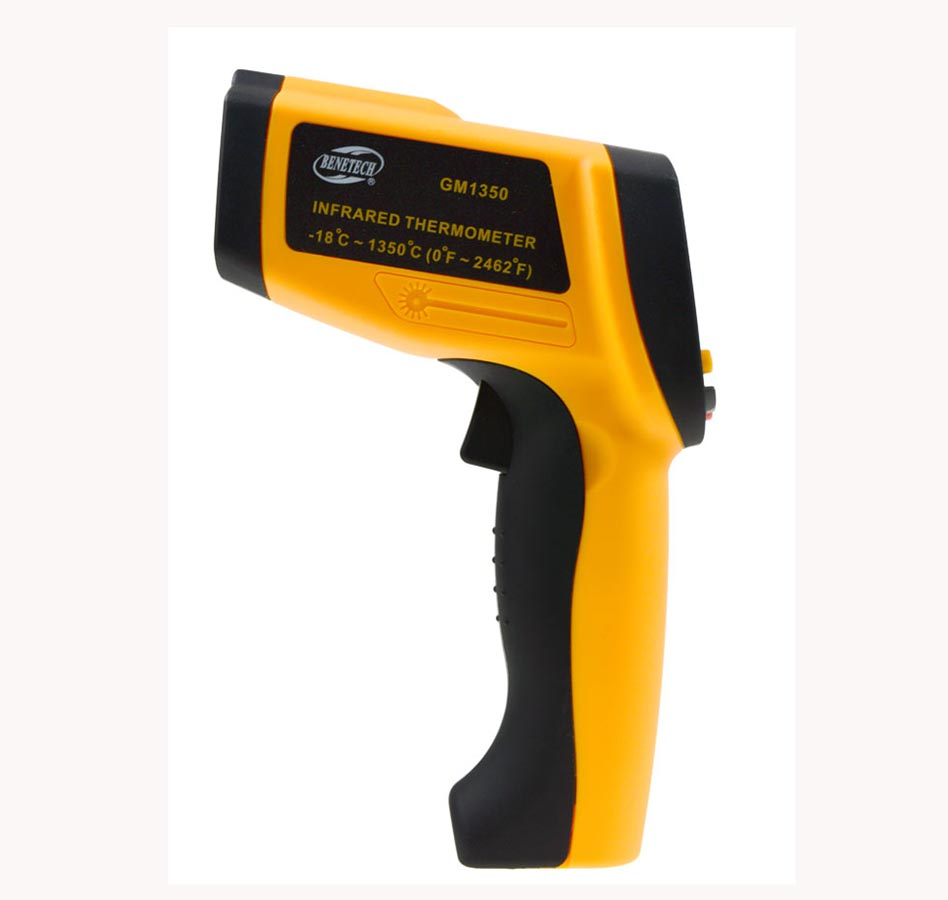 GM1350 Non-Contact 50:1 LCD display IR Infrared  Thermometer Digital Temperature Gun-18~1350C (0~2462F) 0.1~1.00 adjustable gm1150 non contact 12 1 lcd display ir infrared digital temperature gun thermometer 50 1150c 58 2102f 0 1 1 00 adjustable