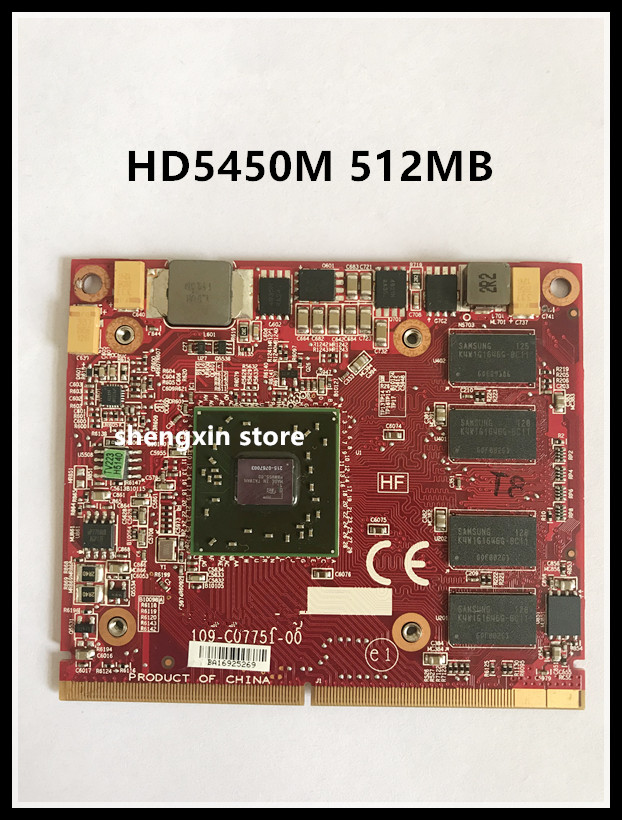HD 5450M HD5450M VGA video Graphic card 109-C07751-00 215-0767003 for laptop HP Elite 8200/8300 608544-001 620007-001