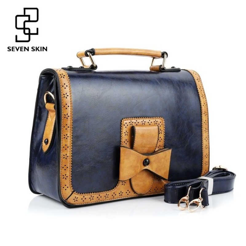 SEVEN SKIN 2017 Luxury Handbags Women Bags Vintage Designer Famous Brand Bag Pu Leather Casual Tote Bag with Bow Messenger Bags seven skin famous brands handbags women pu leather bag large casual tote bags 2017 sac new fashion luxury messenger bags bolsas