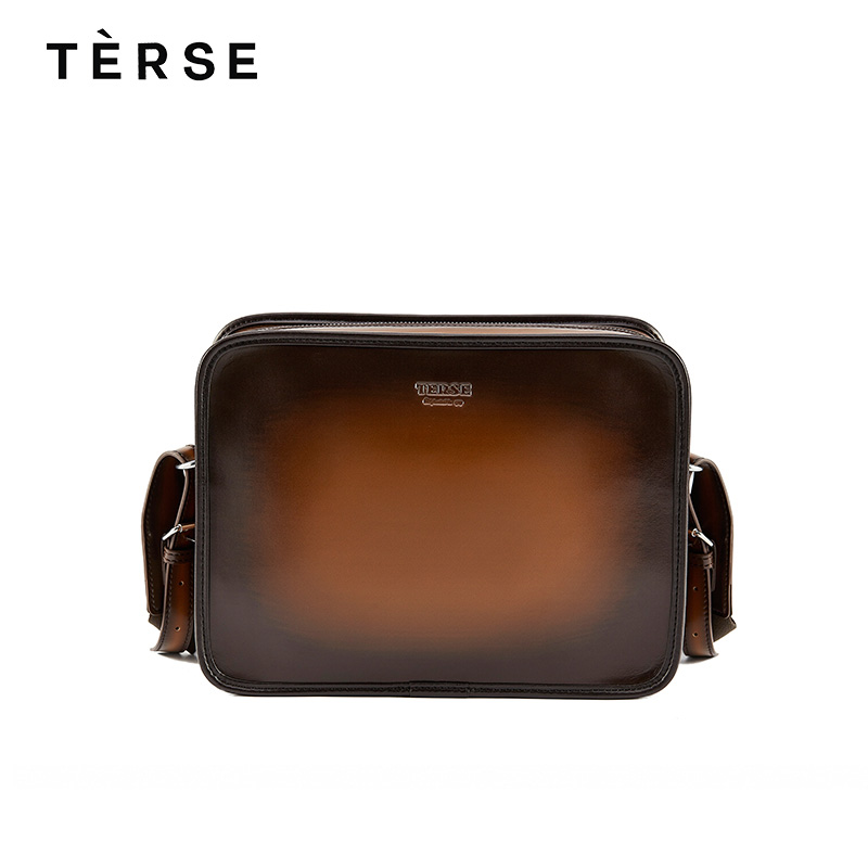 TERSE 2018 New Handbags For Men Real Cow Leather Messenger Bags Fashion Zipper Solid Bag Large Capacity Customize Logo 9651