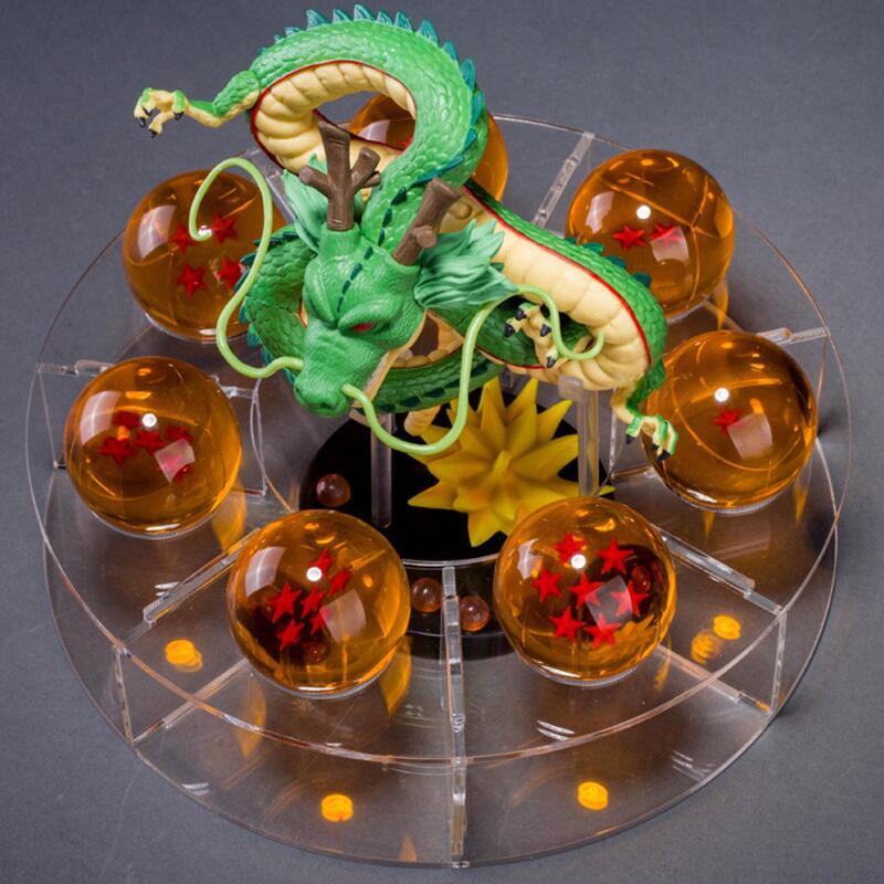 Dragon Ball Z Action Figures Dbz Dragonball Z Figures Anime Esferas Del Shenlong Dragon+7pcs PVC Balls+shelf Brinquedos Kid Toys