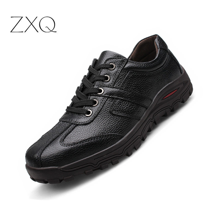 New 2018 Winter Nature Leather Men Casual Shoes High Quality Men Fashion Genuine Leather Shoes Outdoor No Slip Men Sneakers aokang new arrival men s casual shoes men genuine leather shoes men s top fashion shoes high quality free shipping page 4