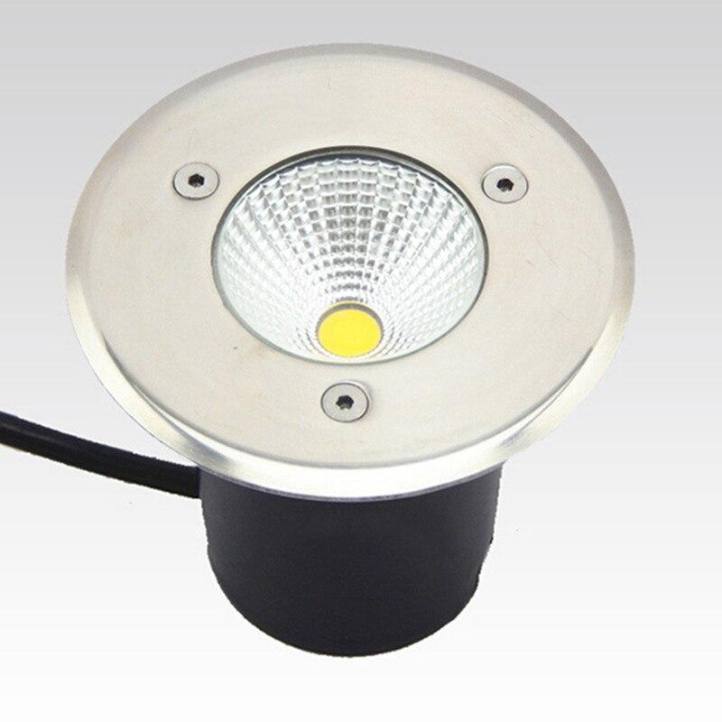 Hot sale10W AC85-265V IP67 COB Epistar LED chip Underground Light Lamp Waterproof Shockproof High-Quality Tempered Glass