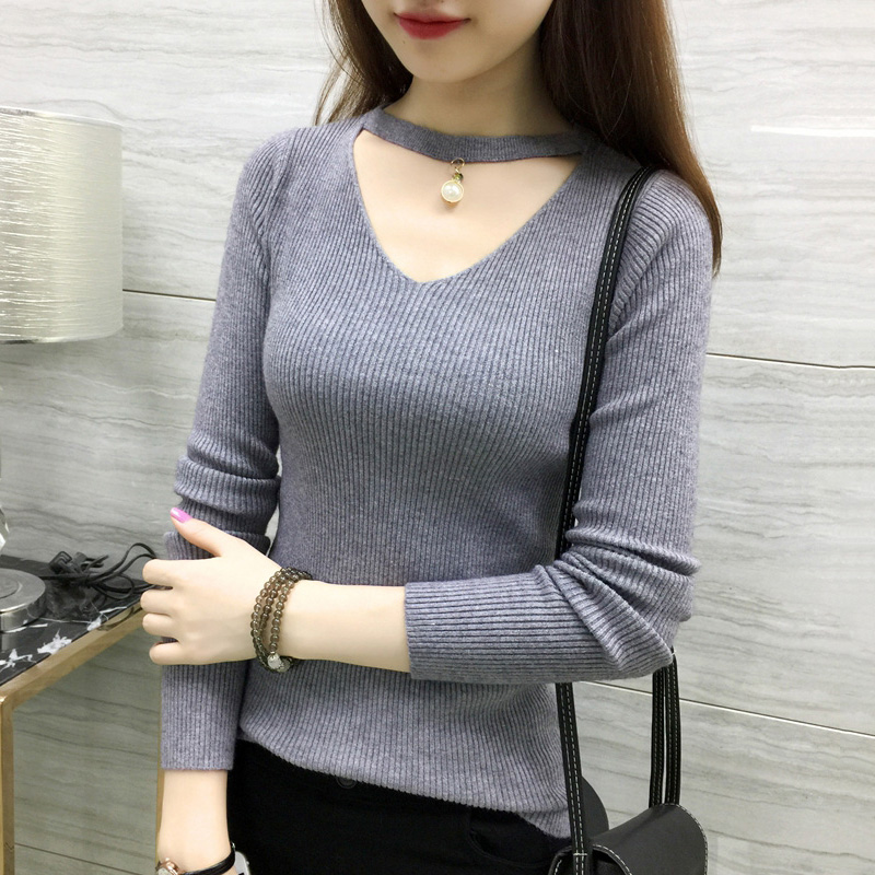 2019 Sweater Woman Tops Female Knitted Ladies Clothing Slim Pullover Korean Style Long Sleeve 9 Colors Jumper Autumn Winter 079 Rapid Heat Dissipation