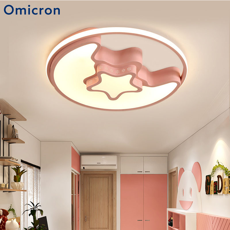 Omicron Modern Ceiling Lights Creative 3 Colors Aluminum LED Star Moon Children's Lamp For Children's Room Study Room Fixtures