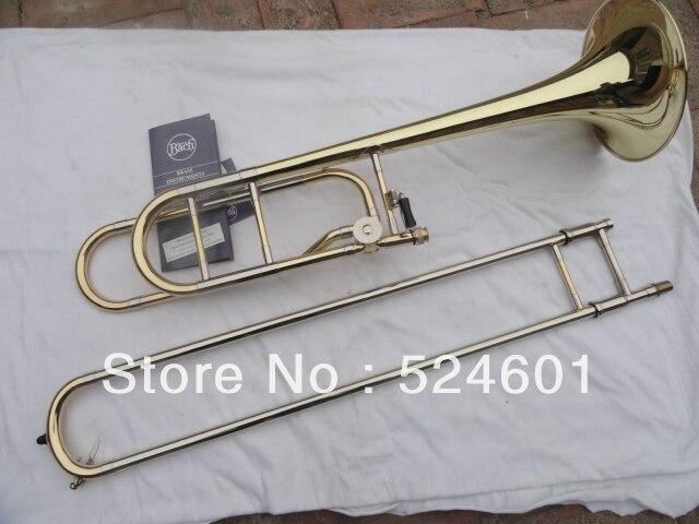 Золотой лак латунь музыкальный инструмент Bb тромбон туба 42BO старший Sandhi тенор тромбон импорт 95 сплав медь