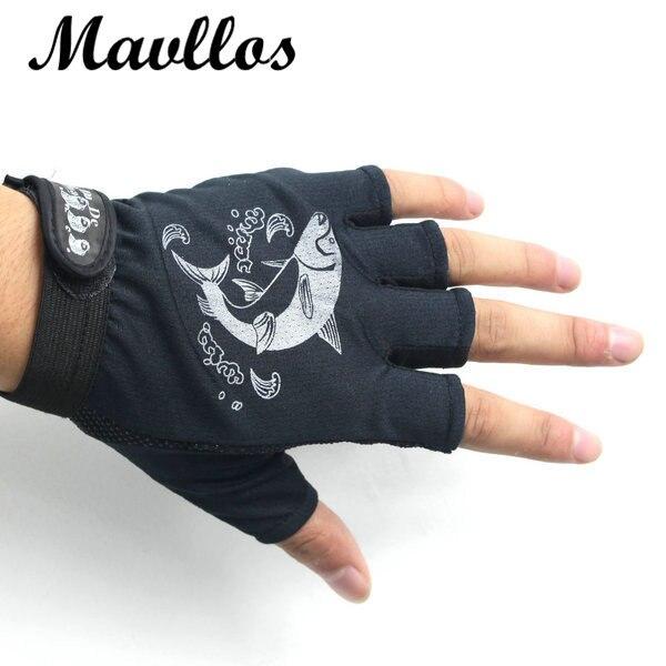 Mavllos fly fishing gloves men waterproof 1 pair half for Fly fishing gloves