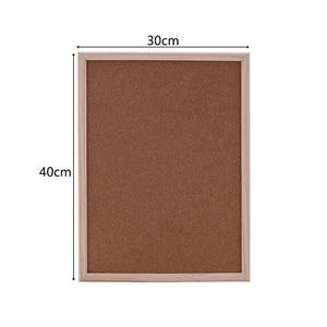 Image 2 - 1PCS kurk prikbord 30*40cm board Kurk naald Board Combinatie Tekentafel Grenen Frame