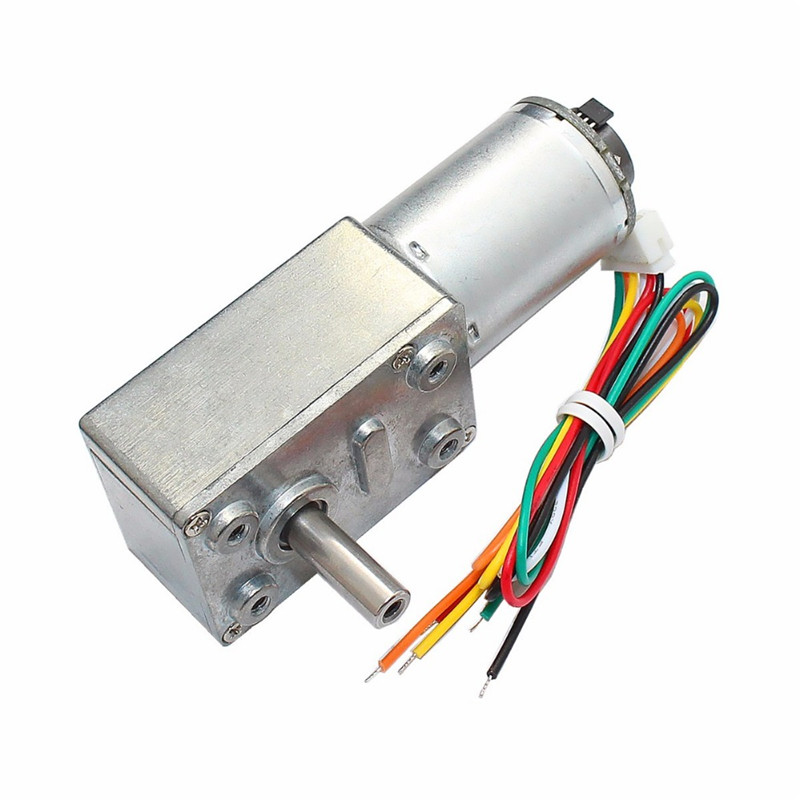 цена на DC 12V GM4632-370 30RPM High Torque Turbo Encoder Motor Worm Geared Motor Reducer Motor