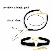 Choker Necklace Black Lace Leather Velvet strip woman Collar Jewelry Neck accessories