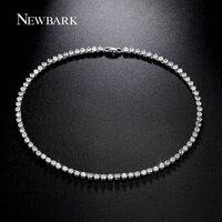 NEWBARK Luxury 81 Pcs Round 0 25CT Cubic Zirconia Diamond Necklace For Women 18K White Gold