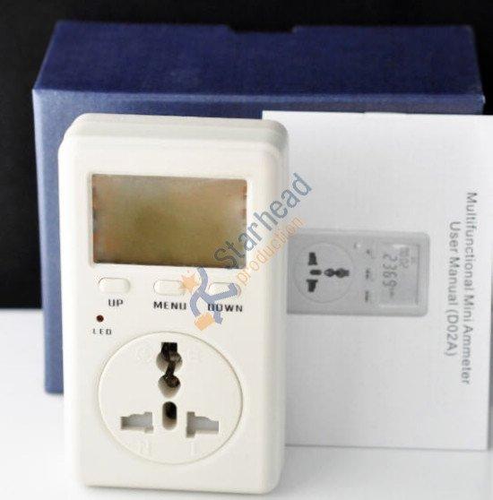 D02A умная розетка мини Амперметр ватт электрическая мощность использование метр монитор AC напряжение, мониторинг энергии, швейцарская версия 220 В 50 Гц