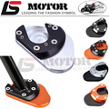 CNC Aluminum Motorcycle parking side kickstand stand extension base plate parts For KTM DUKE 125 200 690 390