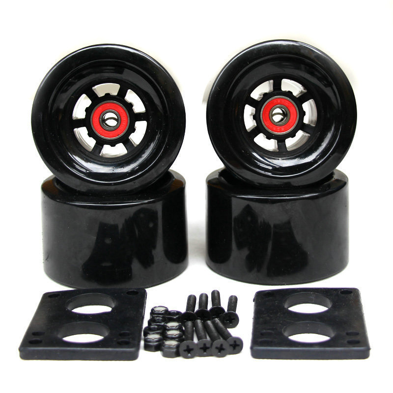 Skateboard Electric Wheels 78A 97*52mm Brush Street Big Wheel Long Board Wheels ABEC-9 Bearings Bushings 35mm Bolts 6mm Gasket