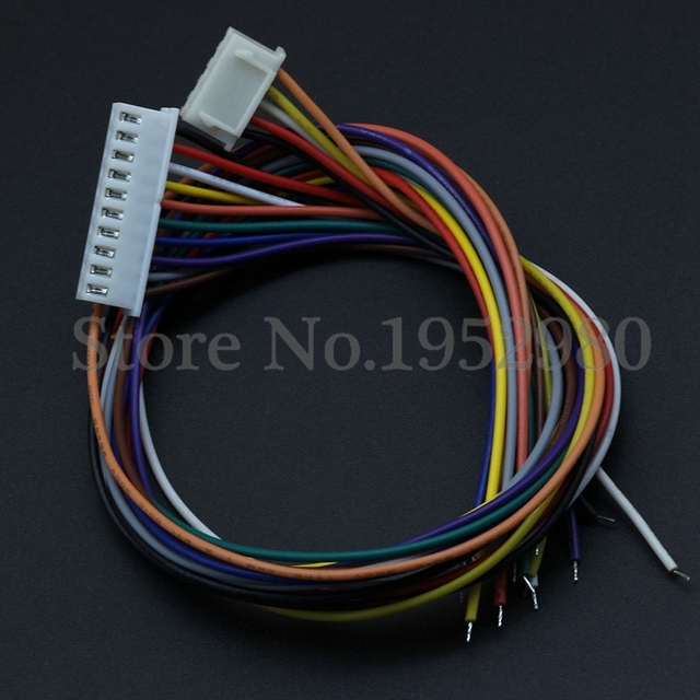 10PCS XH 2.54 JST Connector Plug Wire Cable 30cm Long 26AWG 2/3/4/5 ...