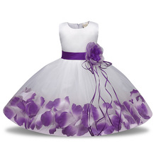 цена на Flower Kids Dresses For Girls Princess Wedding Party Dress Girl Clothes 4 5 6 7 8 9 10 Years Girl Frock Dress Children Clothing